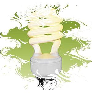 Mercury-filled toxic florescent bulb