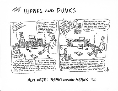 Hippies and Punks
