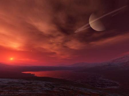 Titan Sunset by Kees Veenenbos
